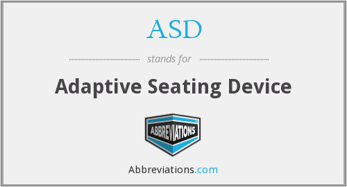 ASD - adaptive seating device