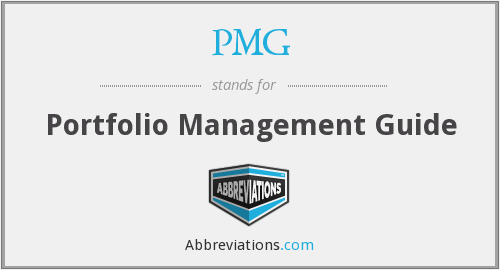 PMG - Portfolio Management Guide