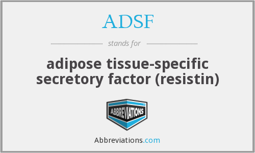 ADSF - adipose tissue-specific secretory factor (resistin)