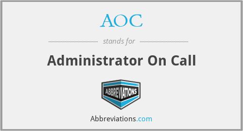 AOC - Administrator On Call