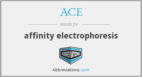 ACE - affinity electrophoresis