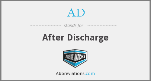 AD - after discharge