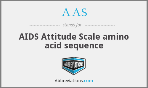 AAS - AIDS Attitude Scale amino acid sequence