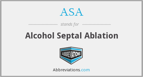 ASA - alcohol septal ablation