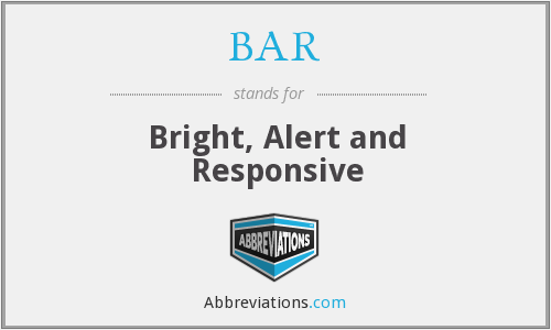 A - alert and responsive