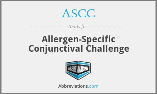 ASCC - allergen-specific conjunctival challenge