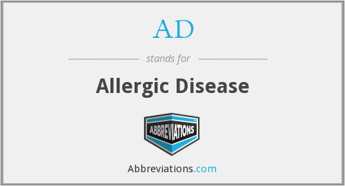 AD - allergic disease
