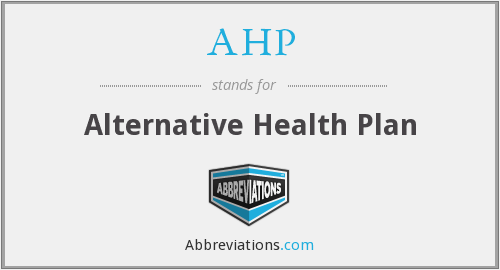 AHP - alternative health plan