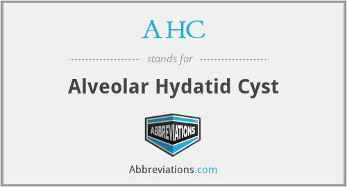 AHC - alveolar hydatid cyst