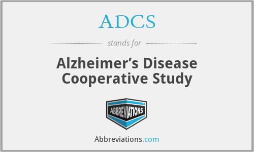 ADCS - Alzheimer's Disease Cooperative Study