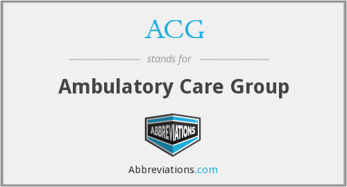 ACG - ambulatory care group