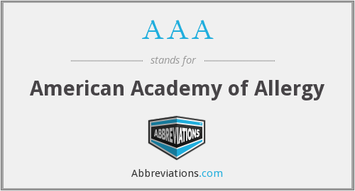 AAA - American Academy of Allergy