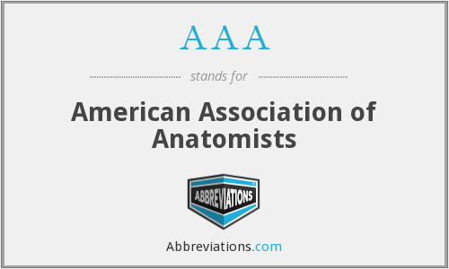 AAA - American Association of Anatomists