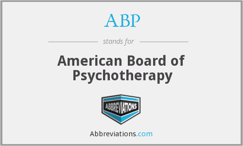 ABP - American Board of Psychotherapy