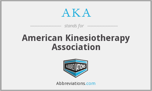 AKA - American Kinesiotherapy Association