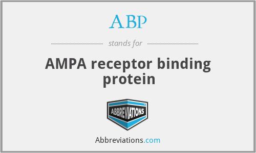ABP - AMPA receptor binding protein