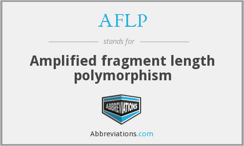 AFLP - Amplified fragment length polymorphism