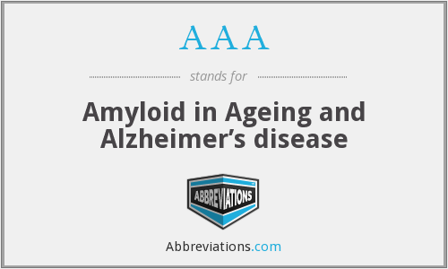 AAA - Amyloid in Ageing and Alzheimer's disease