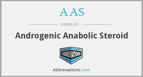 AAS - androgenic anabolic steroid