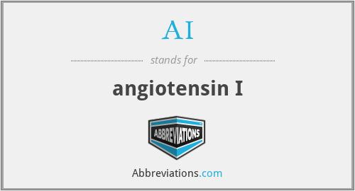 AI - angiotensin I