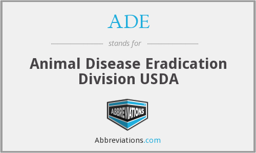 ADE - Animal Disease Eradication Division USDA