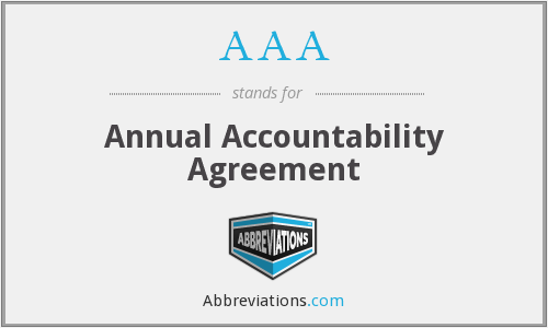 AAA - Annual Accountability Agreement