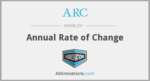 ARC - Annual Rate of Change