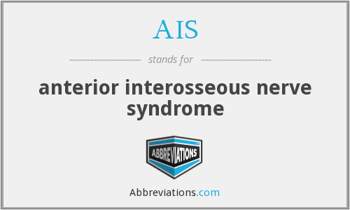 AIS - anterior interosseous nerve syndrome