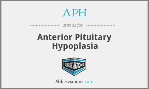 APH - anterior pituitary hypoplasia