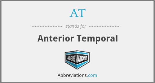 AT - anterior temporal