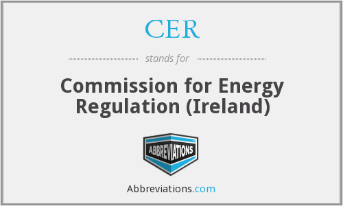 CER - Commission for Energy Regulation (Ireland)