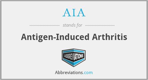 AIA - antigen-induced arthritis