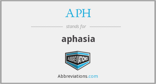 APH - aphasia