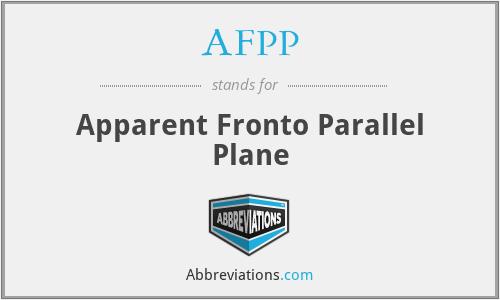 AFPP - Apparent Fronto Parallel Plane