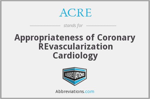 ACRE - Appropriateness of Coronary REvascularization Cardiology