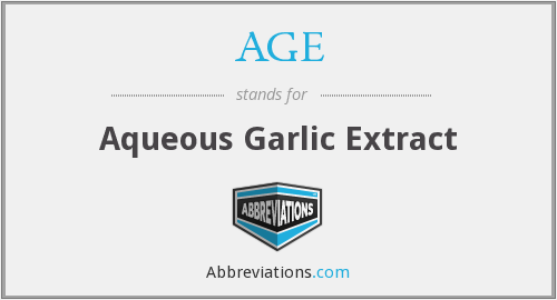AGE - aqueous garlic extract