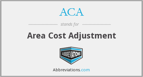 ACA - Area Cost Adjustment