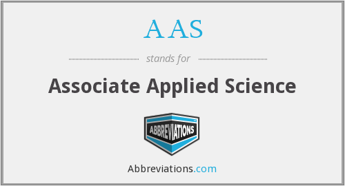 AAS - Associate Applied Science