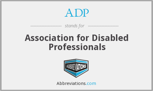 ADP - Association for Disabled Professionals