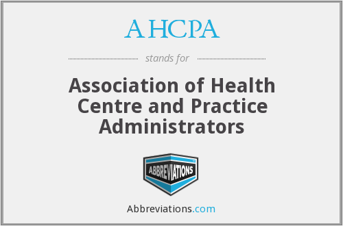 What does AHCPA stand for?