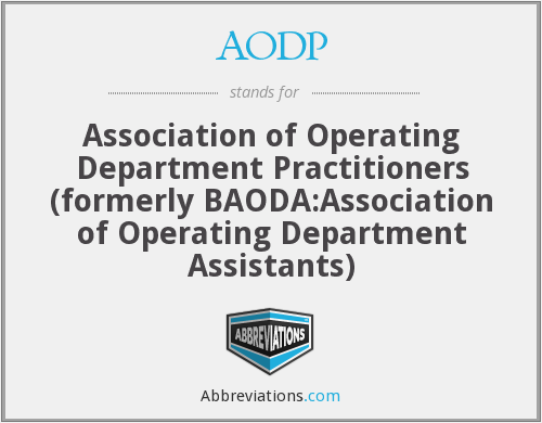What Is The Abbreviation For Association Of Operating Department