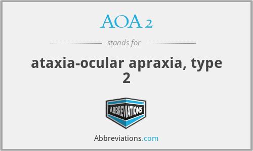 AOA2 - ataxia-ocular apraxia, type 2