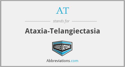 AT - ataxia-telangiectasia