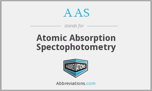 AAS - atomic absorption spectophotometry