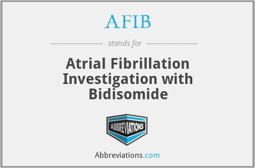 AFIB - Atrial Fibrillation Investigation with Bidisomide