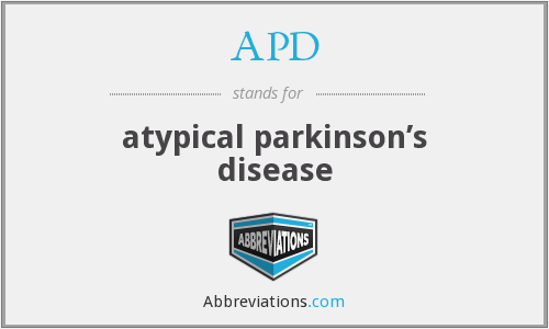 APD - atypical parkinson's disease