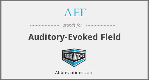 AEF - Auditory-Evoked Field
