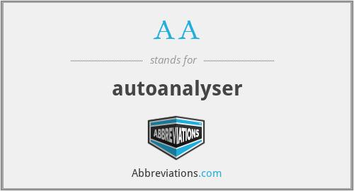 AA - autoanalyser