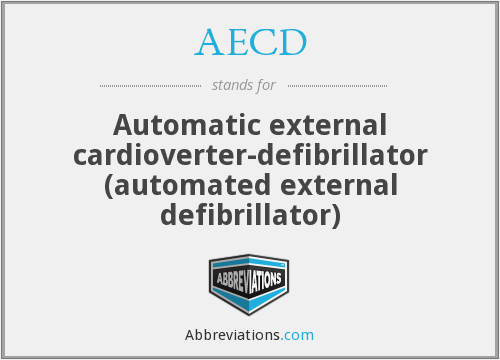 AECD - Automatic external cardioverter-defibrillator (automated external defibrillator)