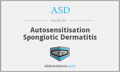 ASD - autosensitisation spongiotic dermatitis